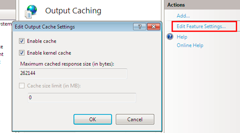 IIS 8 Output Caching